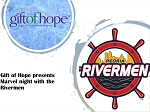 Gift of Hope presents Marvel Night with the Peoria RIvermen 1/25