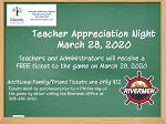Teacher Appreciation Night-3/28