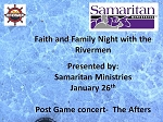 Samaritan Ministries Faith and Family Night with the Rivermen 1-26
