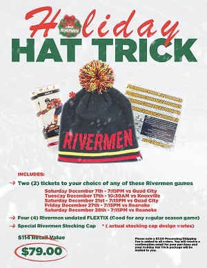 Rivermen Holiday Hat Trick