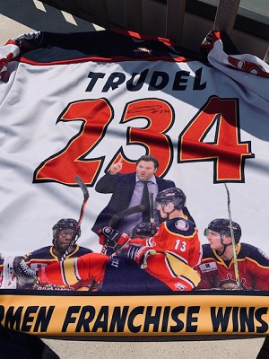 Jean Guy Trudel Record Setting Jersey