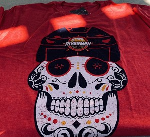 Soft Washed T-Shirt-Skull  (Red)