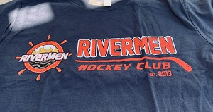 Soft Washed T-Shirt-Hockey Stick  (Navy)