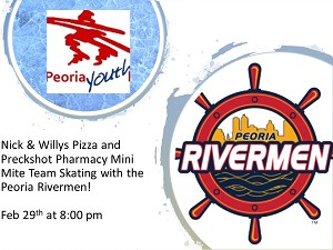 Nick & Willys Pizza and Preckshot Pharmacy  Skating at the Rivermen 2/29
