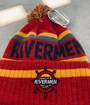Stocking Red Rivermen Logo with Ball Top
