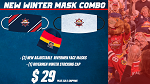 Two Pack of Rivermen Face Mask and a Stocking Cap
