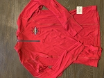 1/4 Zip Embroidered Logo Red Pull Over